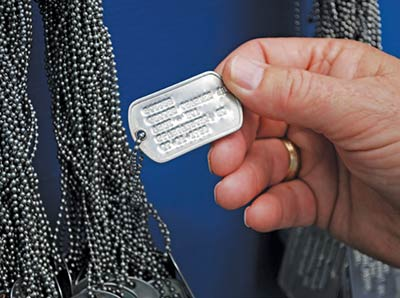Replicas of the dog tags of every South Carolina native who made the ultimate sacrifice hang on a wall at the entrance of The Vietnam Experience.